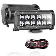 """2x7"""" LED Work Light Bar Spot lights Off Road Driving Fog ATV UTV Truck + Wiring"""