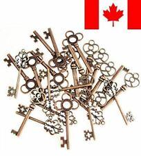 ABOEL Mixed Set of 30 Vintage Old Look Skeleton Keys Fancy Heart Bow Necklace...