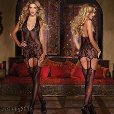 Women Sexy/Sissy Lace Dress Lingerie Babydoll.G-String Thong Nightwear Underwear