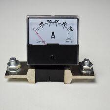 NEW DC 0-500A Analog Amp Meter Ammeter Current Panel + Shunt Resistor