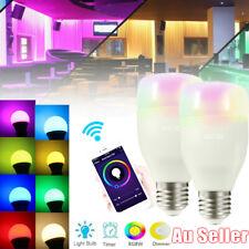 E27 WiFi Smart LED RGB Light Bulb Globe For Alexa Google Home Remote Control AUE