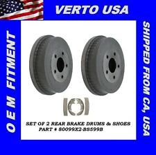 Brake Drums & Shoes For Mercury Sable 2001 to 2005 Ford Taurus 2001 to 2007