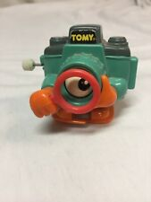Vtg TOMY Walking Camera Wind Up Toy w/ Moving Eye Working Works!