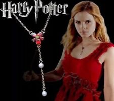 Harry Potter Hermione Red Flower Necklace US Seller