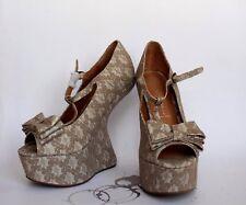 Brand New Jeffrey Campbell Handmade Havana Last Night Walk Shoes Beige 8