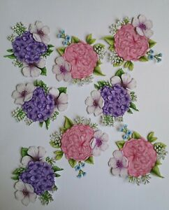 New: 8 x Tattered Lace : Swag 1 and 2 Charisma Die Cut Toppers