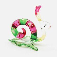 Snail Glass Figurine Animal Miniature Hand Blown Reptile - GTSN009