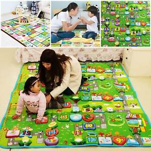 200x180cm Baby Crawling 2 Side Play Mat Educational Game Soft Foam Picnic Carpet