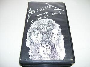 Metallica - Home Vid Cliff 'em All  RARE VHS HOLLAND !!