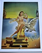 Salvador Dali Leda Atomica Poster of Nude Woman and Swan 14x11 Offset Lithograph