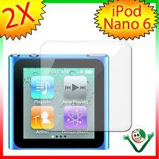 2X Pellicola protettiva trasparente per Apple iPod Nano 6 6G display anti graffi