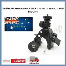 GoPro Hero 5 / 4 / Session / 3+ Handlebar / Roll Cage Mount - Go Pro Jaws Clamp