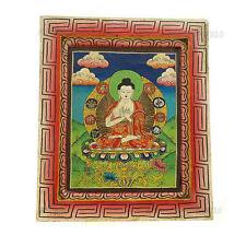 BOUDDHA PEINTURE SUR BOIS TIBETAINE NEPAL TANGKA  BUDDHA 5331