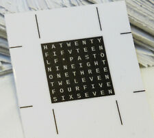 Word Clock printed word mask vinyl sticker (20mm).