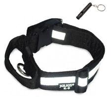 Julius K9-Halsband mit Griff, mit Refl.-Streifen, schwarz, B.40mm +Hundepfeife!!