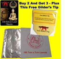 Silver Leaf 925 Imitation Colour - 100% Genuine Scrap 100 Sheets Arts & Crafts