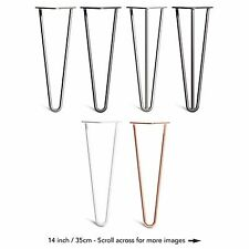4x Premium Hairpin Table Legs + FREE Screws, Guide, AND Protector Feet Worth £8!