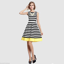 Unbranded Party Mini Striped Dresses for Women