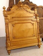 More details for exceptional antique vintage continental french carved solid walnut single bed