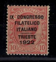P131709/ ITALY / SASSONE # 123 MINT MH SIGNED DIENA CERTIFICATE - CV 660 $