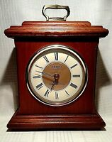 Seiko Quartz Westminster Chimes Whittington Oak Mantle Clock QXJ204BLH