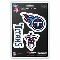 Tennessee Titans Decals Die-Cut Auto Multi-use Stickers 3-Pack