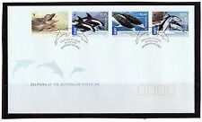2009 Australia Dolphins Of The Australian Coastline Set Of 4 FDC, Very Good Cond