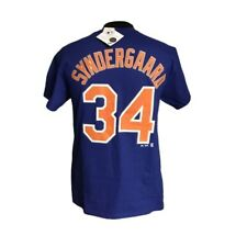 Majestic Noah Syndergaard New York Mets Blue Name and Number T-Shirt Sz M