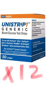 UniStrip 600 Test Strips Use w/ Onetouch Ultra Meters-Freaky Fast Shipping 👍