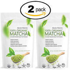 Matcha Outlet Starter Green Tea Powder (2 pack of 12oz) - FREE USA Shipping