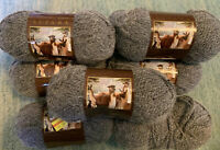9 Lion Brand Touch Of Alpaca Yarn 1.75 ounce Skeins Oxford Grey Same Lot