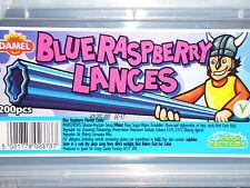 RETRO SWEETS 200G OF BLUE RASPBERRY LANCES