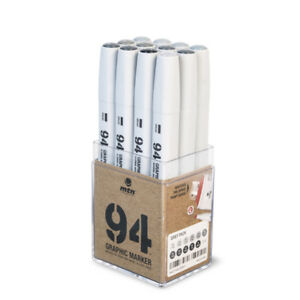 Set 12 Rotuladores MTN '94 Graphic Marker' 12 Grey - Markers - Montana Colors