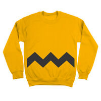Charlie Brown Adult Funny  Humor  Costume Gold Crewneck Sweatshirt