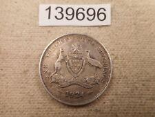 1924 Australia Florin Two Shillings - Nice Raw Collector Grade Coin - # 139696