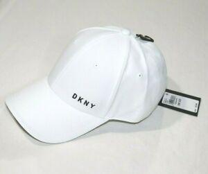 DKNY Men's Adjustable Logo Hat White One Size