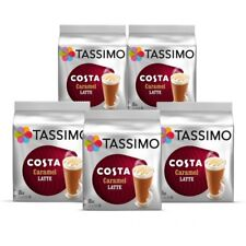 Tassimo Costa Caramel Latte T-Disc Coffee Capsules Pods Pack of 5, 40 Drinks