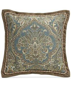 "Croscill 18"" Square Decorative Pillow Cadeau Damask Jacquard J9X005"
