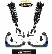 TWO FRONT UPPER CONTROL ARM + BALL JOINTS TIE RODS LOADED STRUTS