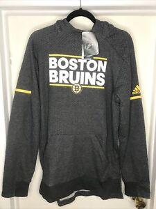 Boston Bruins Adidas Climalite Hoodie Sweatshirt Men's Medium nwt Free Ship