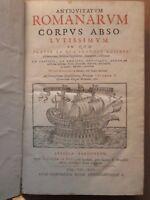 DEMPSTER : ANTIQUITARUM ROMANORUM, 1613. In folio en édition originale.