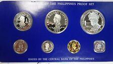 Philippines 1980 Proof Set - 1 5 10 25 Sentimos 1 5 25 Piso McArthur