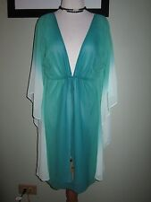 GUESS by Marciano Green Batwing Sleeves Dress Tunic Beach Cover Up Size S