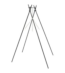 Tripod with Chains Tripod Camping Cooker Firepit Stand and Chain Fire Bowl Stand