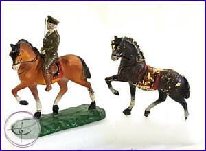 VINTAGE 1920's TRICO COMPOSITION TOY SOLDIER JAPAN HORSES BACK SOLDIER