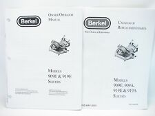Berkel 909e Amp 919e Slicers Owneroperator Manual Amp Replacement Parts Catalog