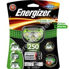 Energizer Vision HD+ LED Head Torch 250 Lumen Headlight Lamp AAA battery camping