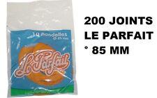 200 RONDELLES JOINTS BOCAUX TERRINES ° 85 MM LE PARFAIT POUR 350 GR - 0.5 L - 1L