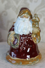 Beautiful Rich Coloration, Ceramic Christmas Santa Claus Figurine Accent Decor