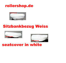 Sitzbank-Bezug in WEISS für Peugeot SV 50, mit flacher gerader Sitzbank